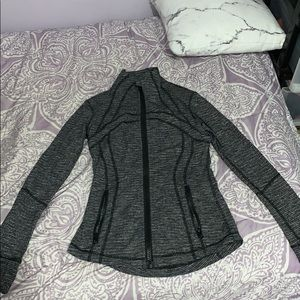 Grey and black lululemon define jacket